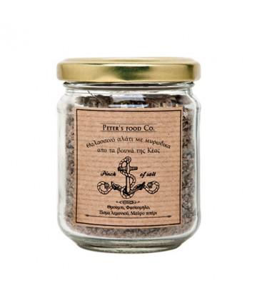 Αλάτι θαλασσινό με θρούμπι, φασκόμηλο, ξύσμα λεμονιού Peter's Deli